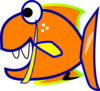 Edited Orange Fish icon png