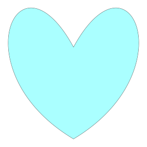 Light Blue Heart icon png