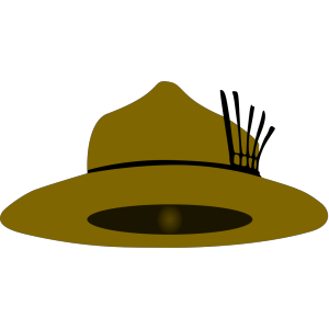 Clothing Brown Scout Hat icon png