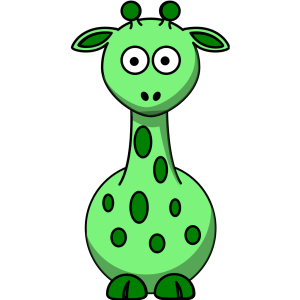 Green Giraffe With 12 Dots icon png