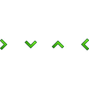 Green Single Arrow Set icon png