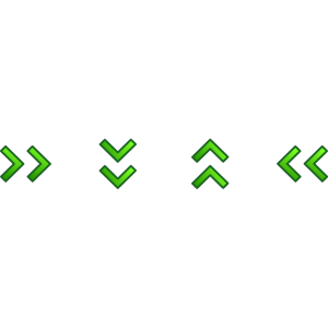 Green Double Arrows Set icon png