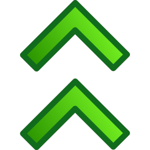 Green Up Double Arrows Set icon png