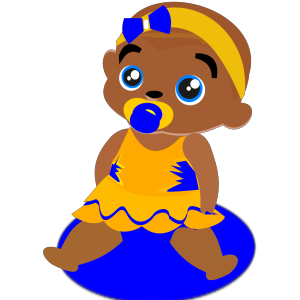 Blue &yellow Baby icon png