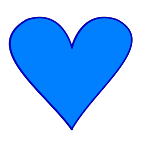 Blue Heart design
