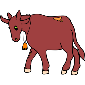 Walking Cow icon png