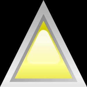 Led Triangular Yellow icon png