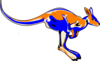 Blue Kangaroo design