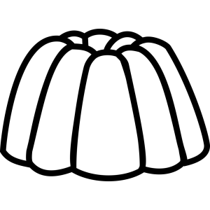 Jelly Jello Outline icon png