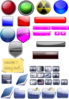 Mixed Gloss Icons And Buttons icon png