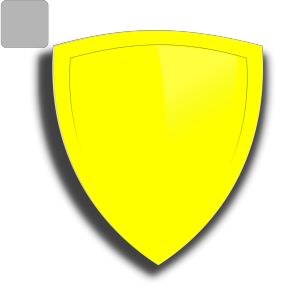 Blue And Yellow Shield icon png