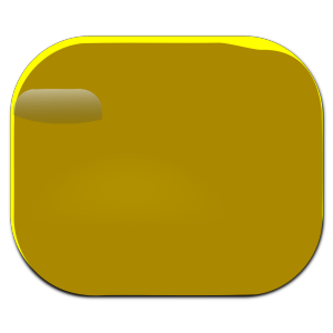 Gold Round Button icon png