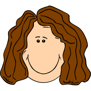 Smiling Brown Hair Lady icon png