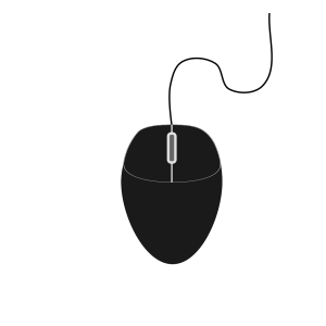 Black Mouse icon png