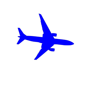 Blue Plane icon png
