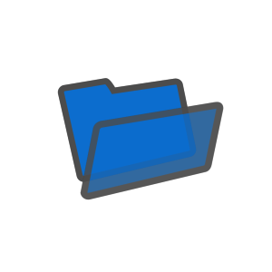 Blue File icon png