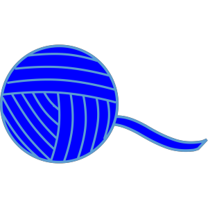 Blue Ball Of Yarn icon png