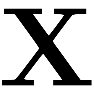 Cyrillic Letter X icon png