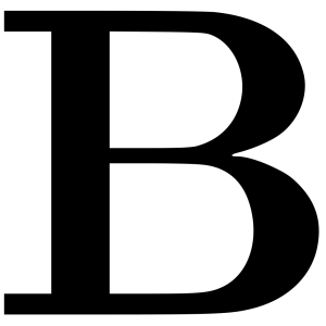 Cyrillic Letter B icon png