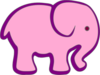 Pink And Purple Elephant icon png