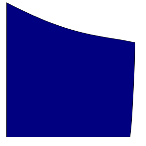 Shield Upper Right Blue design