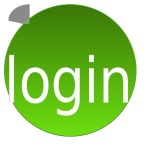 Green Login icon png