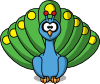 Cartoon Peacock icon png