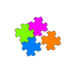 Puzzle Orange icon png