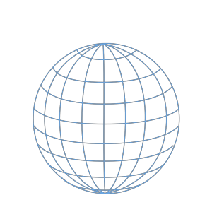 Big Blue Wire Globe icon png