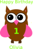 Brown Green Owl design