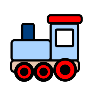 Little Blue Train icon png