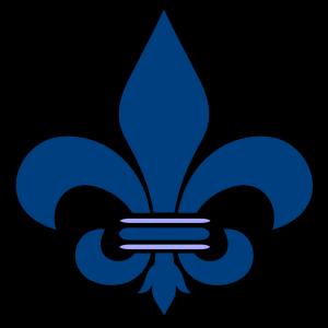 Blue Fleur De Lis design