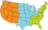 Three-region U.s. Map icon png