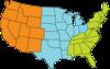 Three-region U.s. Map icon png