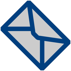 Dark Blue Message icon png