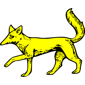 Gold Fox Symbol design