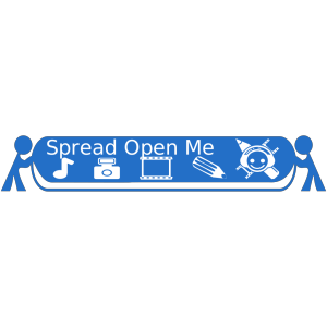 Tomosaur Spreading Open Media X With Text icon png