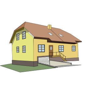 Yellow And Brown House icon png