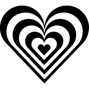 Zebra Heart icon png