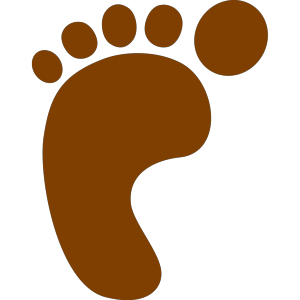 Brown Foot icon png