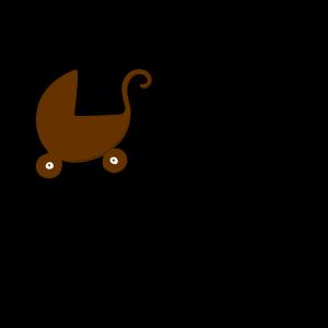 Brown Pram icon png