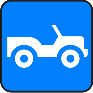 Blue Jeep icon png