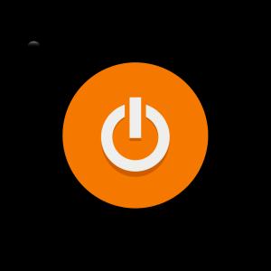 Orange Power Button icon png