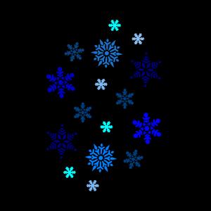 Blue Snowflake icon png