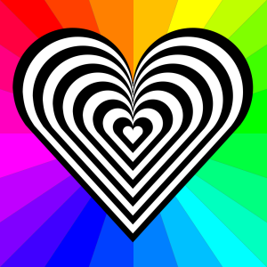 Stripped Heart icon png