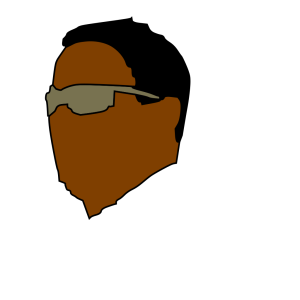 Cool Black Dude With Glasses icon png