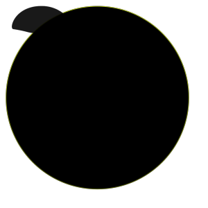 Black Circle icon png