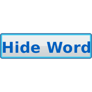 Hide Word Button  icon png