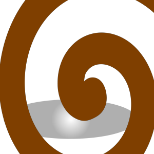 Brown Spiral icon png