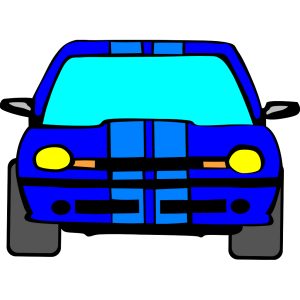 Blue Car design